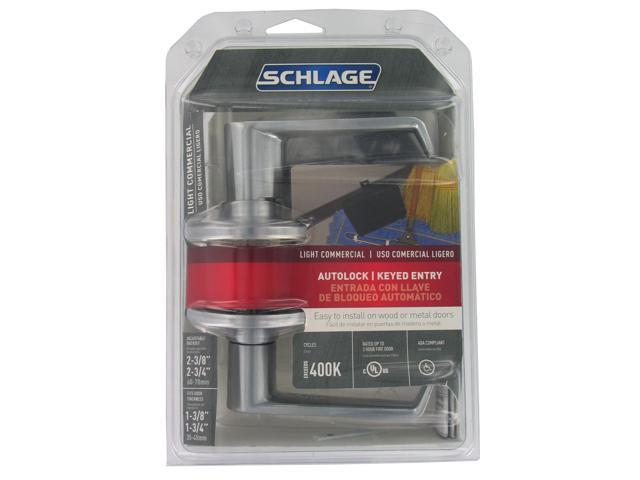 Schlage F80CSVELA626 Satin Chrome Elan Autolock Keyed Entry Lever