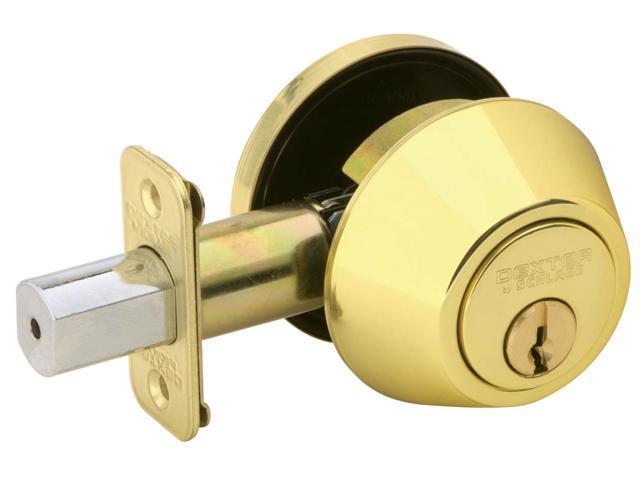 Dexter JD60V605 Bright Brass Single Cylinder Deadbolts