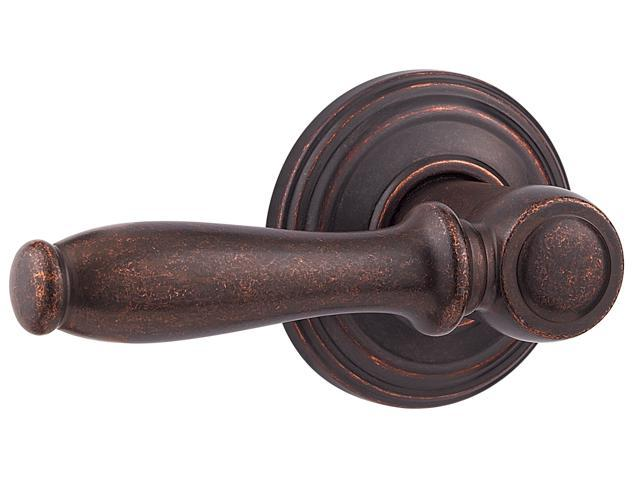 Kwikset Signature Series 97880-713 Rustic Bronze Surface Mounted Ashfield™ Half Dummy Trim Lever