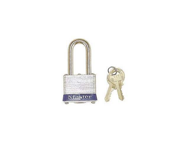"Master Lock 3KALH 0324 1-1/2"" No. 3 Long Shackle Laminated Padlock"