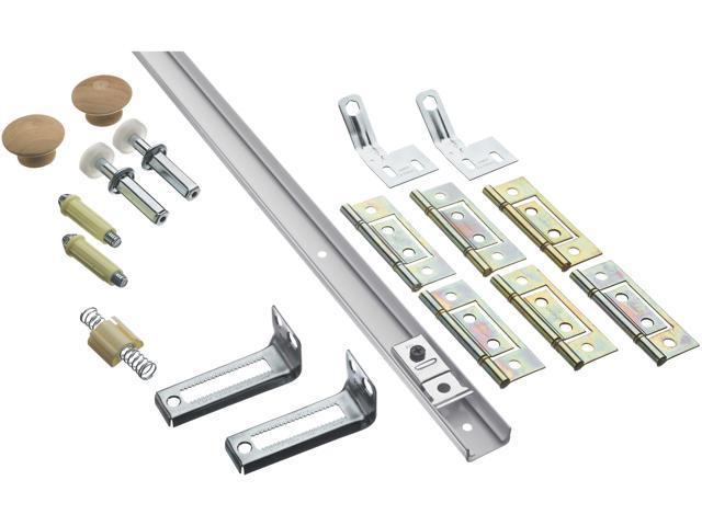STANLEY NATIONAL HARDWARE 2-1/2' White Bi-Fold Door Hardware Sets