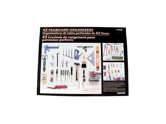 "* Fits both 1/8"" and 1/4"" pegboard