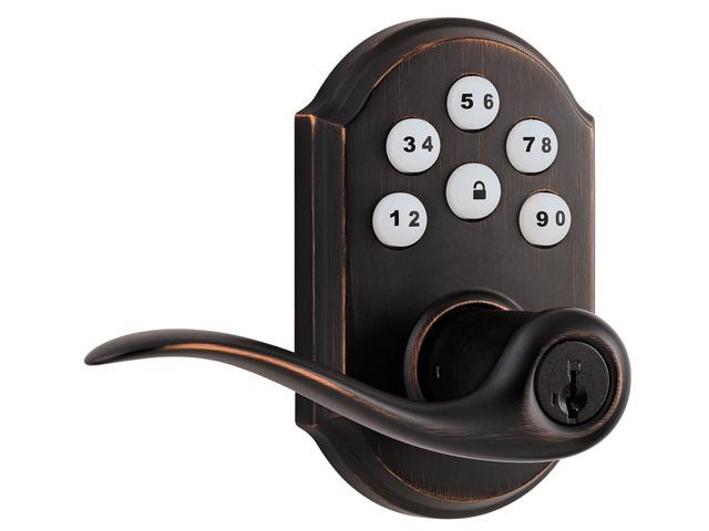 Kwikset Signature Series 99110-003 Venetian Bronze Smart Code Touch Pad Electronic Lever Handle Exterior Door Lock