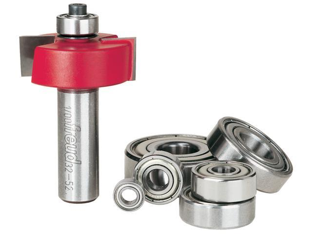 """Freud 32-526 1-3/8"""" Rabbeting Straight Router Bits With Bearing Set"""