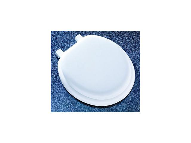 Mayfair 13EC000 White Antique Vinyl Soft Toilet Seat