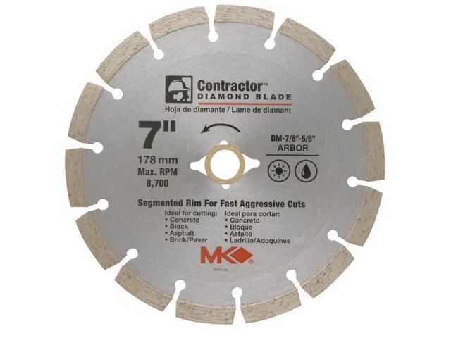 "MK Diamond 167015 7"" Contractor™ Diamond Blade"
