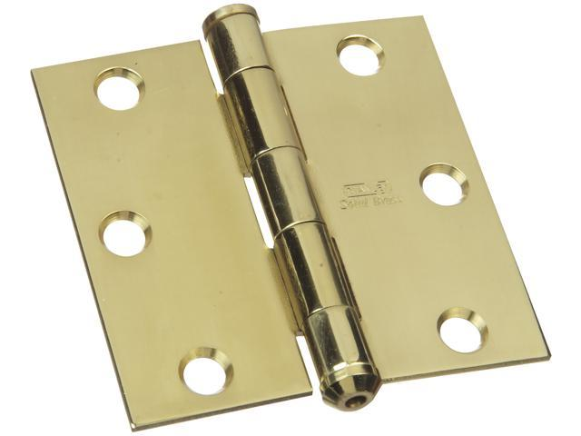 STANLEY NATIONAL HARDWARE Solid Brass Square Corner Hinges