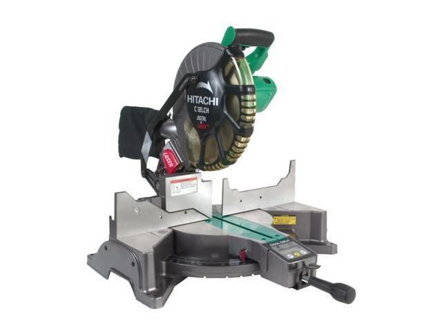 "Hitachi Power Tools C12LCH 12"" Compound Miter Saw With Digital Display & Laser Marker"