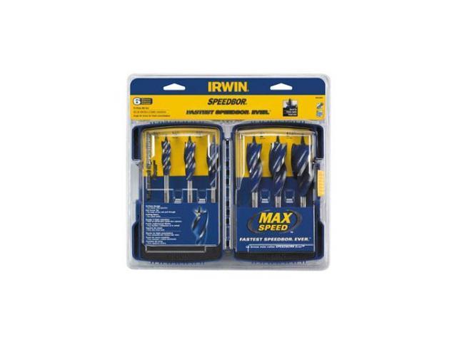 Irwin Tools                              6 Piece Speedbor® Max Spade Bit Set