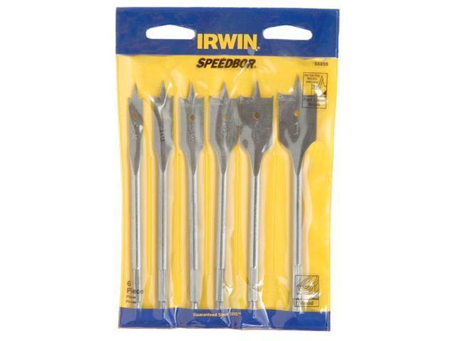 Irwin Tools                              6 Piece Speedbor® 2000 Flat Wood Boring Bits
