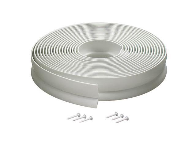 MD 03822 30' White Vinyl Garage Door Seal For Top & Sides