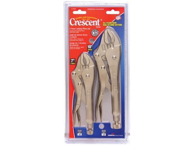 Crescent CLP2SET 2 Piece Locking Pliers With Wire Cutter Set