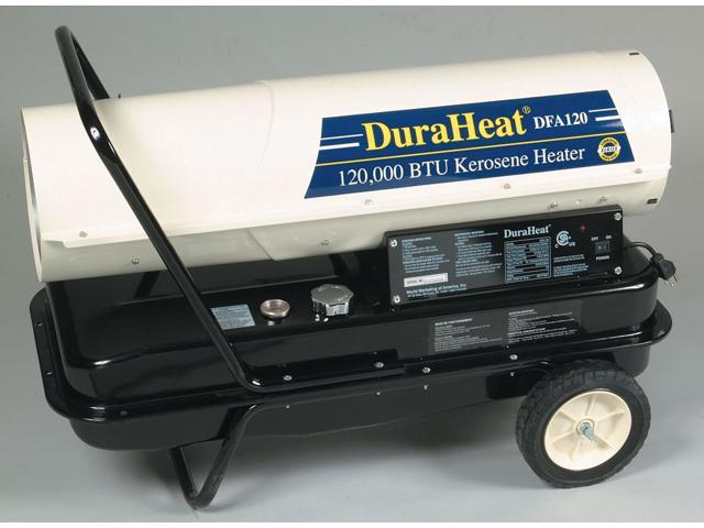 World Marketing DFA-125T 120,000 BTU Kerosene Forced Air Heater With Wheels & Handle Kit