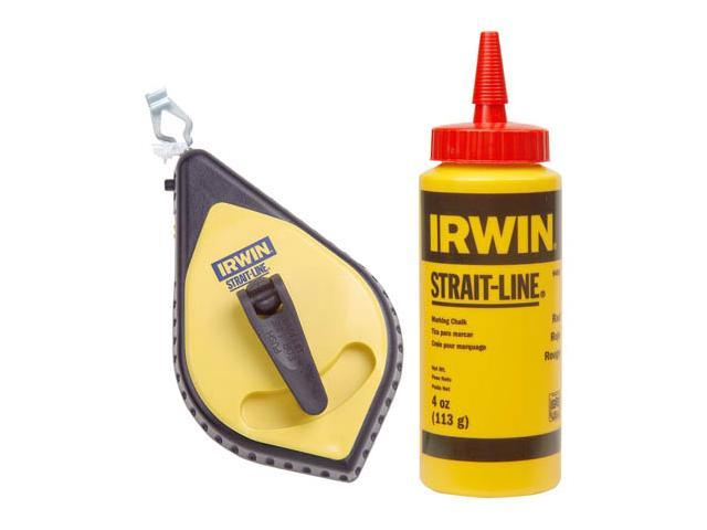 Irwin Strait Line 64495 Speed-Line Reel & Red Chalk Set