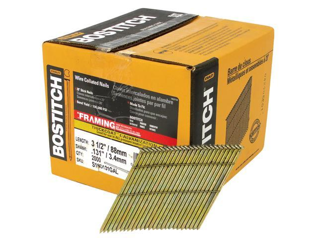 Bostitch Stanley S16D131GAL-FH 2,000 Count 3-1/2