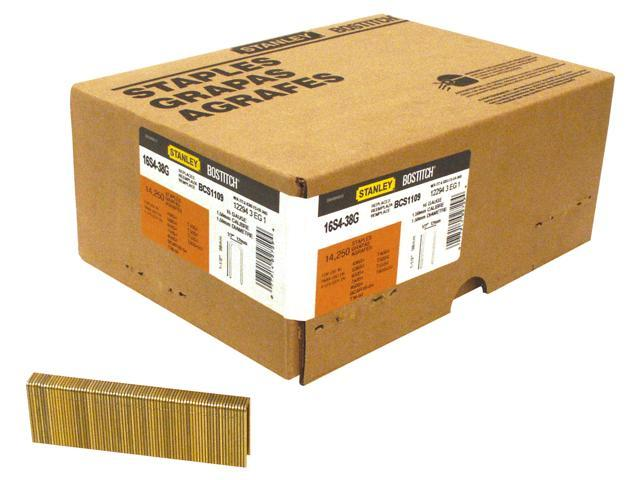 "Bostitch Stanley 16S4-38GAL 14,250 Count 1-1/2"" Medium Crown Construction Staples"