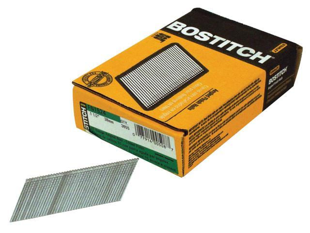 "Bostitch Stanley FN1524 3,655 Count 1-1/2"" 15 Gauge Angled Finish Nails"