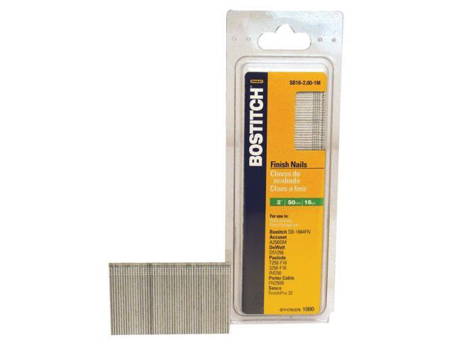 """Bostitch Stanley SB16-2.00 2,500 Count 2"""" Coated 16 Gauge Straight Finish Nails"""