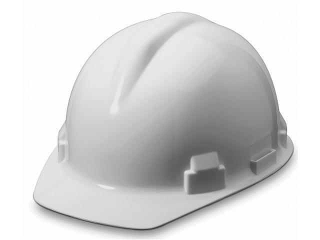 Willson RWS-52004 White Hard Hat With Ratchet Suspension