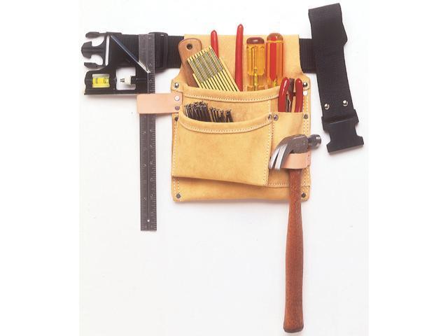 CLC IPK489X 3 Pocket Nail & Tool Bag With Polyweb Belt