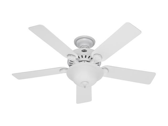 """Hunter 28439 52"""" White 5 Blade Pro's Best Five Minute Fan Ceiling Fan"""