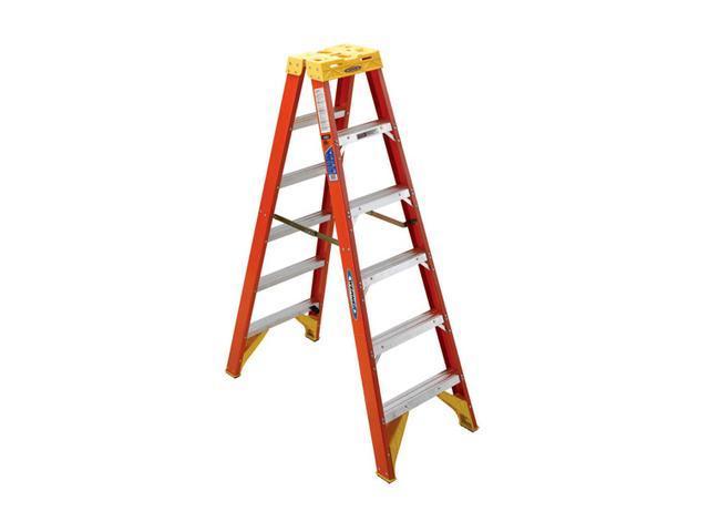 Werner T6206 6' Fiberglass Twin Step Ladder