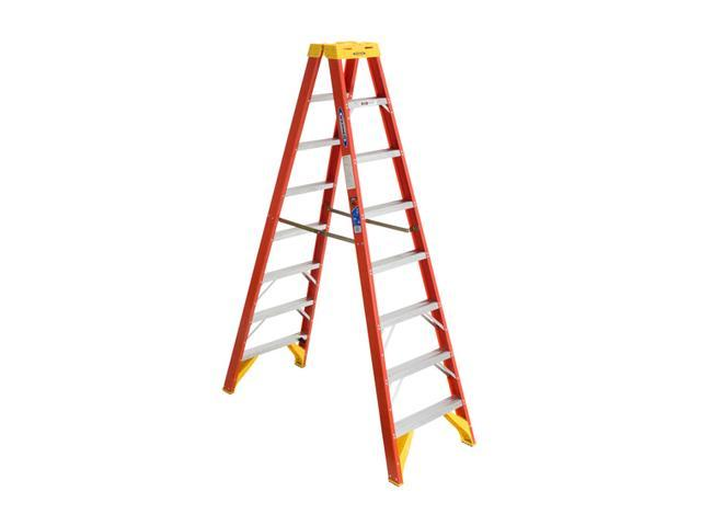Werner T6208 8' Fiberglass Twin Step Ladder