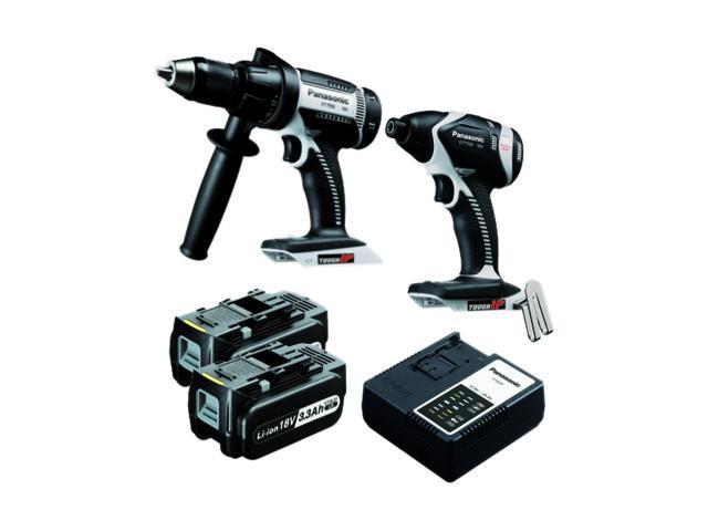 Panasonic EYC159LR 18V Hammer Drill Driver / Impact Driver Combo