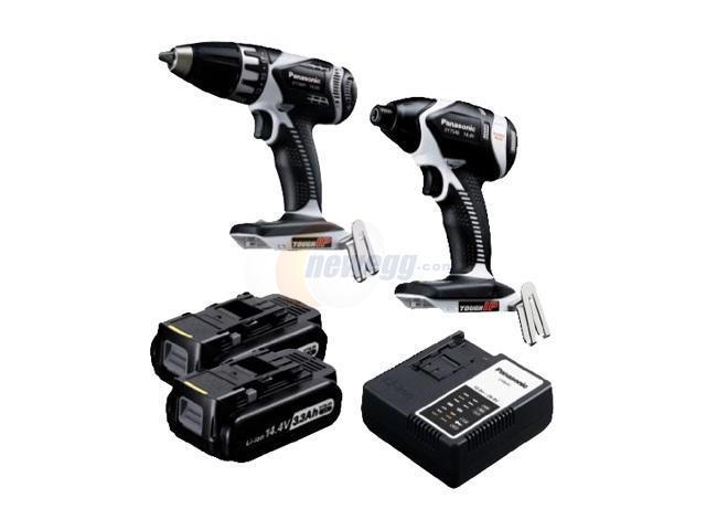 Panasonic EYC199LR 14.4V Drill Driver / Impact Driver Combo Kit
