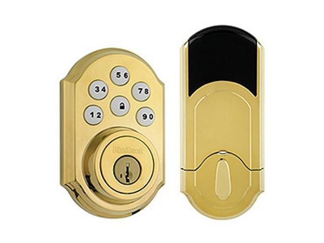 Kwikset 99100-004 Motorized Deadbolt w/Home Connect - Polished Brass