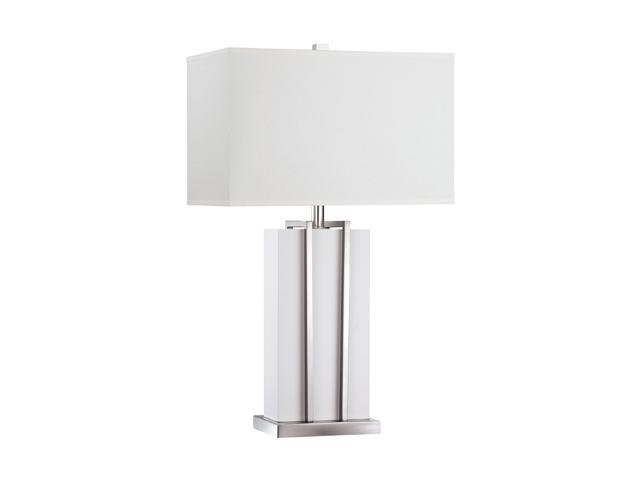 Quoizel Lenox White Lenox Transitional 1 Light Table Lamp White