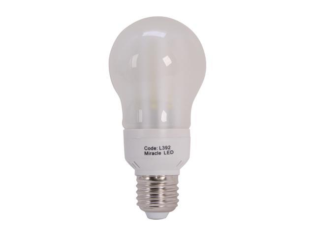 Miracle LED 605053 Un Edison 60W Equivalent Frosted Cool LED Bulb