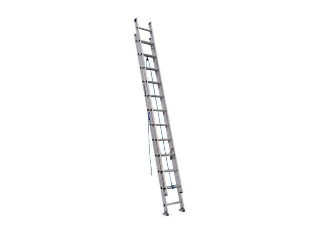 Werner D1324-2 24' Type I Aluminum D-Rung Extension Ladder