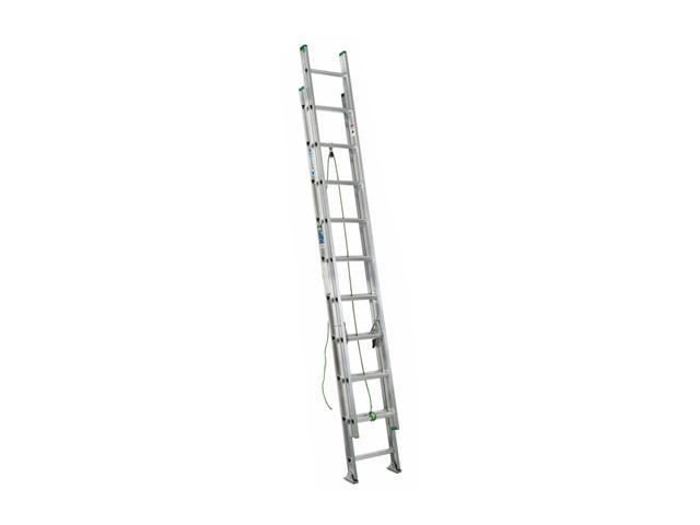 Werner D1220-2 20' Type II Aluminum D-Rung Extension Ladder