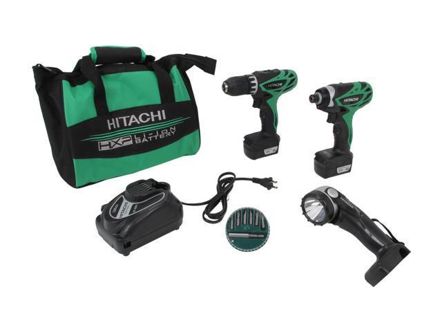 Hitachi KC10DFL 12V Peak Lithium Ion Micro Driver Drill & Impact Driver Combo Kit (1.5Ah)
