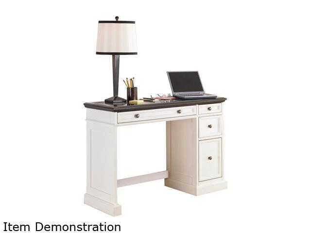 Home Styles 5002-794 Traditions White Utility Desk with a Black Granite Top