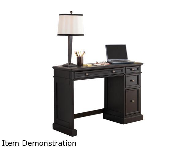 Home Styles 5003-791 Traditions Black Utility Desk with Black Wood Top