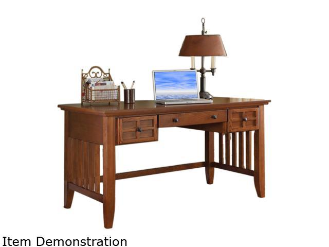 Home Styles 5180-15 Arts & Crafts Cottage Oak Executive Desk