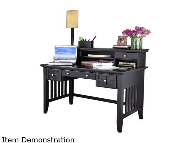 Home Styles 5181-152 Arts & Crafts Black Executive Desk and Hutch