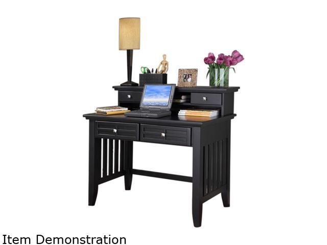 Home Styles 5181-162 Arts & Crafts Black Student Desk and Hutch