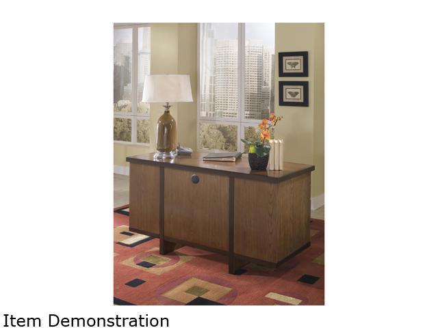 Home Styles 5539-18 Geo Walnut Double Pedestal Desk