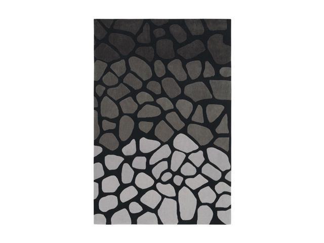 "Shaw Living Loft Stone Walk Area Rug Black 5' x 7' 6"" 3K08916500"