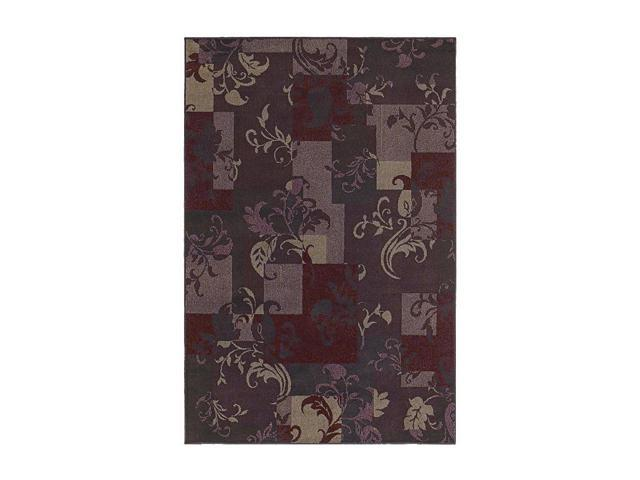 """Shaw Living Concepts Idyll Area Rug Red 3' 11"""" x 5' 3"""" 3V73107800"""