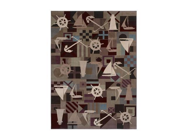 Shaw Living Kathy Ireland Home Ohana Paradise Anchors Aweigh Area Rug Multi 1' 11