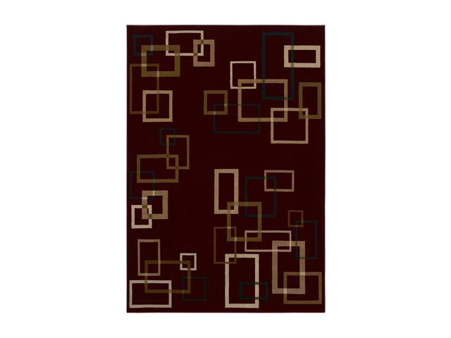 Shaw Living Inspired Design Cubist Area Rug Red 2' 6