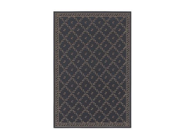 Shaw Living Woven Expressions Gold Trellis Leaf Area Rug Chocolate 1' 11