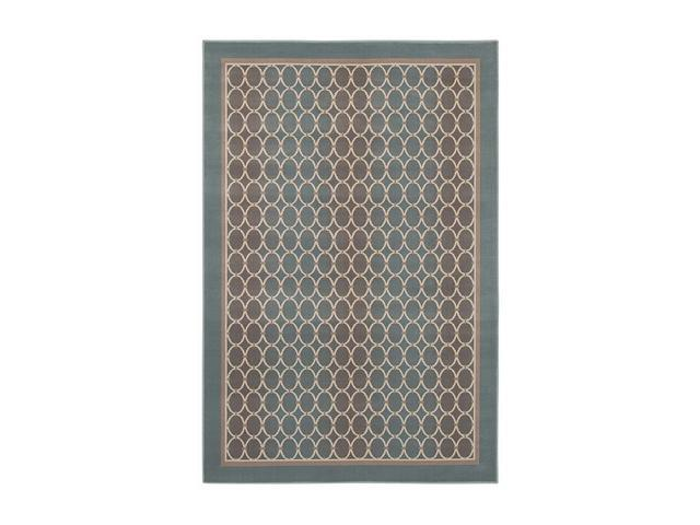 Shaw Living Woven Expressions Gold Soho Area Rug Blue Glacier 3' 11