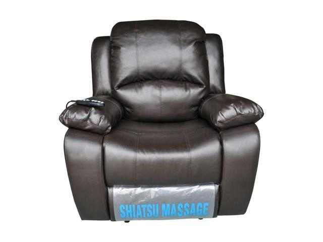 Turnda Leather-like Power Recliner with Shiatsu Massage