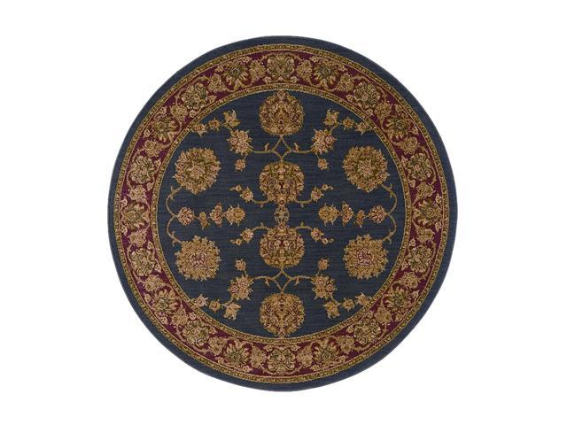 "Shaw Living Antiquities Kashmar Area Rug Ebony 5' 4"" Round 3X66274500"
