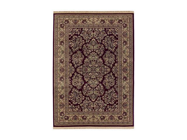 Shaw Living Kathy Ireland Home Essentials Imperial Bouquet Area Rug Garnet 9' 3